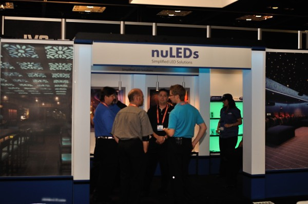 Photo of the NuLEDs Booth at 2012 CEDIA Expo