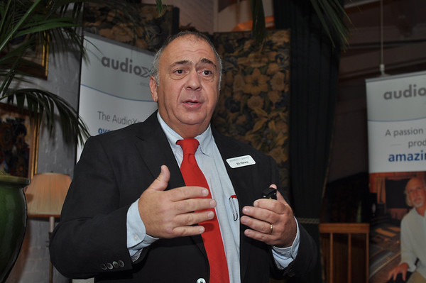 Photo of Eli Harary, President of AudioXperts at Press Conference