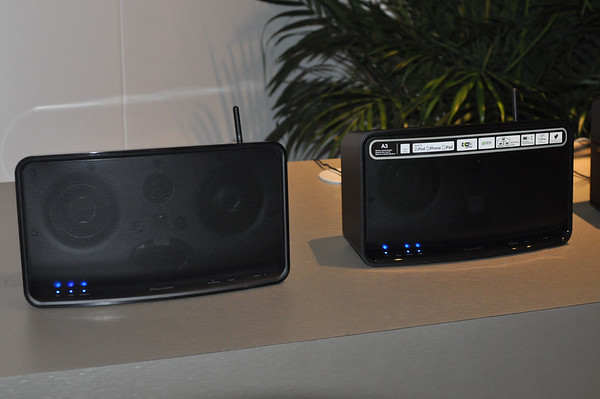 Photo Showing Pioneer's New Wireless Speaker Line