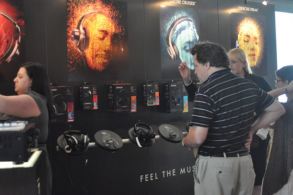 Display Showing Denon Headphone Line-Up